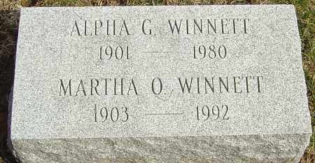 WINNETT, MARTHA O - Franklin County, Ohio | MARTHA O WINNETT - Ohio Gravestone Photos