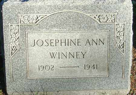 WINNEY, JOSEPHINE ANN - Franklin County, Ohio | JOSEPHINE ANN WINNEY - Ohio Gravestone Photos