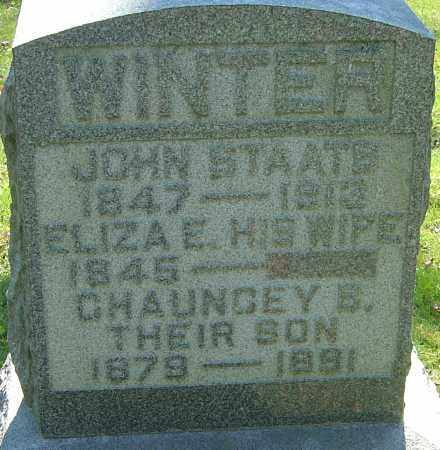 WINTER, CHAUNCEY B - Franklin County, Ohio | CHAUNCEY B WINTER - Ohio Gravestone Photos