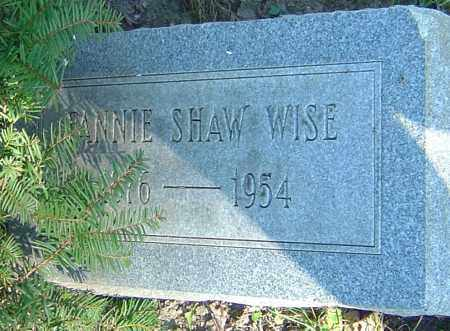 WISE, FANNIE - Franklin County, Ohio | FANNIE WISE - Ohio Gravestone Photos