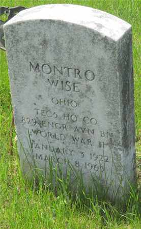 WISE, MONTRO - Franklin County, Ohio | MONTRO WISE - Ohio Gravestone Photos