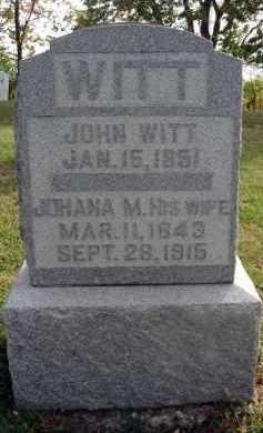 WITT, JOHANA M. - Franklin County, Ohio | JOHANA M. WITT - Ohio Gravestone Photos
