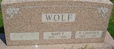 WOLF, H LAWRENCE - Franklin County, Ohio | H LAWRENCE WOLF - Ohio Gravestone Photos