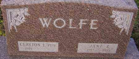 WOLFE, JANE R - Franklin County, Ohio | JANE R WOLFE - Ohio Gravestone Photos