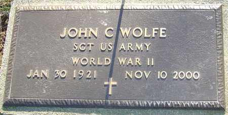 WOLFE, JOHN CHARLES - Franklin County, Ohio | JOHN CHARLES WOLFE - Ohio Gravestone Photos