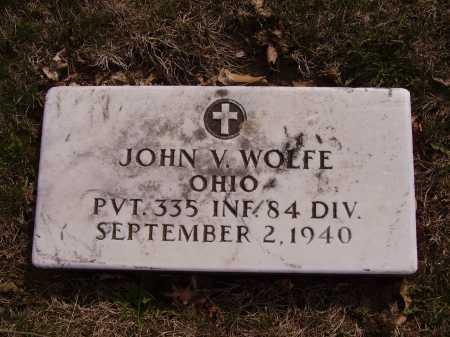 WOLFE, JOHN V.-MILITARY - Franklin County, Ohio | JOHN V.-MILITARY WOLFE - Ohio Gravestone Photos