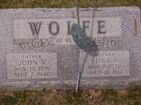 WOLFE, EDNA S. - Franklin County, Ohio | EDNA S. WOLFE - Ohio Gravestone Photos