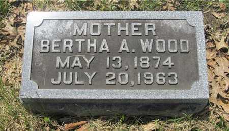 WOOD, BERTHA A. - Franklin County, Ohio | BERTHA A. WOOD - Ohio Gravestone Photos