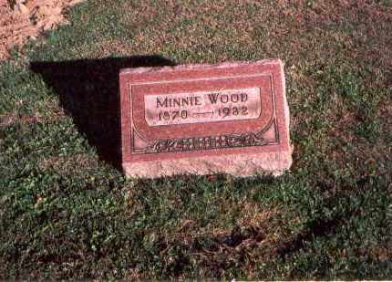 WOOD, MINNIE - Franklin County, Ohio | MINNIE WOOD - Ohio Gravestone Photos