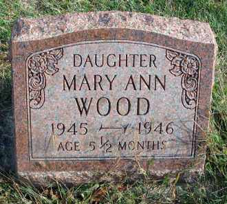 WOOD, MARY ANN - Franklin County, Ohio | MARY ANN WOOD - Ohio Gravestone Photos