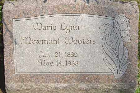 NEWMAN WOOTERS, MARIE LYNN - Franklin County, Ohio | MARIE LYNN NEWMAN WOOTERS - Ohio Gravestone Photos