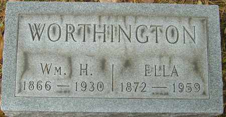WORTHINGTON, ELLA - Franklin County, Ohio | ELLA WORTHINGTON - Ohio Gravestone Photos
