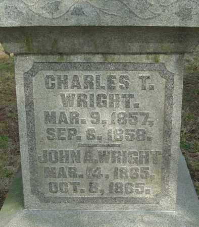 WRIGHT, CHARLES - Franklin County, Ohio | CHARLES WRIGHT - Ohio Gravestone Photos