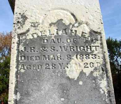 WRIGHT, DELIAH E. - Franklin County, Ohio | DELIAH E. WRIGHT - Ohio Gravestone Photos
