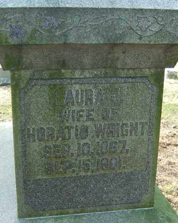 WRIGHT, LAURA J - Franklin County, Ohio | LAURA J WRIGHT - Ohio Gravestone Photos