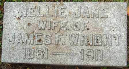 WRIGHT, NELLIE JANE - Franklin County, Ohio | NELLIE JANE WRIGHT - Ohio Gravestone Photos