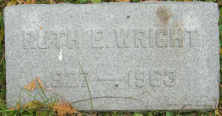 WRIGHT, RUTH E - Franklin County, Ohio | RUTH E WRIGHT - Ohio Gravestone Photos