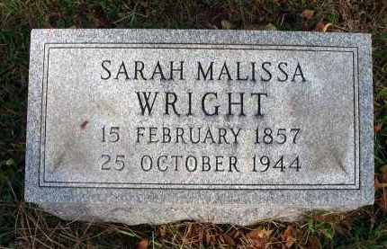 WRIGHT, SARAH MALISSA - Franklin County, Ohio | SARAH MALISSA WRIGHT - Ohio Gravestone Photos
