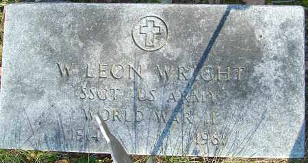 WRIGHT, W LEON - Franklin County, Ohio | W LEON WRIGHT - Ohio Gravestone Photos