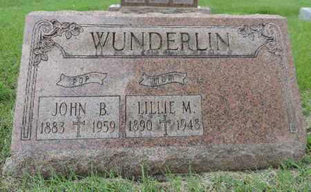 WUNDERLIN, LILLIE M. - Franklin County, Ohio | LILLIE M. WUNDERLIN - Ohio Gravestone Photos