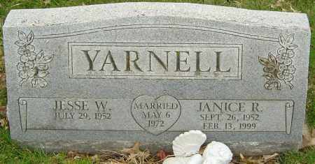 YARNELL, JANICE R - Franklin County, Ohio | JANICE R YARNELL - Ohio Gravestone Photos