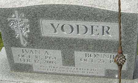 YODER, IVAN A - Franklin County, Ohio | IVAN A YODER - Ohio Gravestone Photos