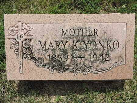 YONKO, MARY K. - Franklin County, Ohio | MARY K. YONKO - Ohio Gravestone Photos