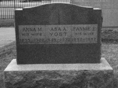"YOST, FRANCES EVELYN ""FANNIE"" - Franklin County, Ohio 