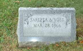 YOST, SAREPTA A - Franklin County, Ohio | SAREPTA A YOST - Ohio Gravestone Photos