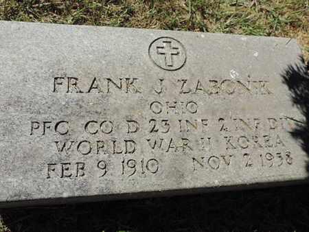 ZABONK, FRANK J. - Franklin County, Ohio | FRANK J. ZABONK - Ohio Gravestone Photos