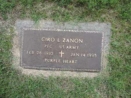 ZANON, CIRO L - Franklin County, Ohio | CIRO L ZANON - Ohio Gravestone Photos