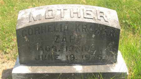 KRAMER ZAPP, CORNELIA - Franklin County, Ohio | CORNELIA KRAMER ZAPP - Ohio Gravestone Photos