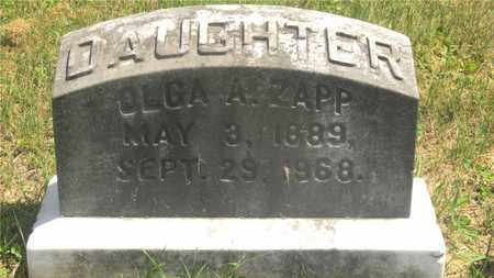 ZAPP, OLGA A. - Franklin County, Ohio | OLGA A. ZAPP - Ohio Gravestone Photos
