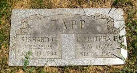 ZAPP, DOROTHEA H. - Franklin County, Ohio | DOROTHEA H. ZAPP - Ohio Gravestone Photos