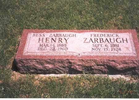 ZARBAUGH, FREDERICK - Franklin County, Ohio | FREDERICK ZARBAUGH - Ohio Gravestone Photos