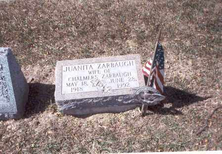 ZARBAUGH, JUANITA - Franklin County, Ohio | JUANITA ZARBAUGH - Ohio Gravestone Photos