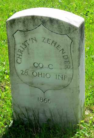 ZEHENDER, CHRIST'N - Franklin County, Ohio | CHRIST'N ZEHENDER - Ohio Gravestone Photos