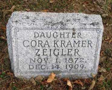 KRAMER ZEIGLER, CORA - Franklin County, Ohio | CORA KRAMER ZEIGLER - Ohio Gravestone Photos