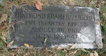 ZEIGLER, RAYMOND KRAMER - Franklin County, Ohio | RAYMOND KRAMER ZEIGLER - Ohio Gravestone Photos