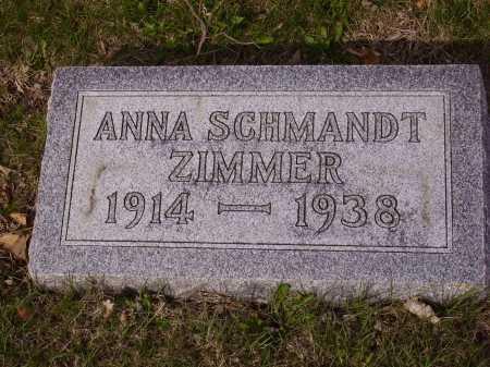 SCHMANDT ZIMMER, ANNA - Franklin County, Ohio | ANNA SCHMANDT ZIMMER - Ohio Gravestone Photos