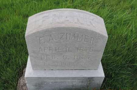ZIMMER, FRANK - Franklin County, Ohio | FRANK ZIMMER - Ohio Gravestone Photos