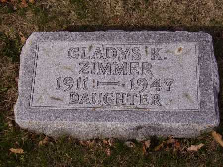 ZIMMER, GLADYS K. - Franklin County, Ohio | GLADYS K. ZIMMER - Ohio Gravestone Photos
