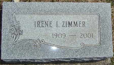 ZIMMER, IRENE - Franklin County, Ohio | IRENE ZIMMER - Ohio Gravestone Photos