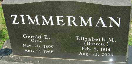 "ZIMMERMAN, GERALD E ""GENE"" - Franklin County, Ohio 