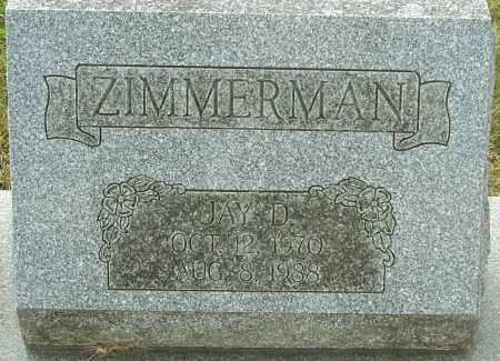 ZIMMERMAN, JAY D - Franklin County, Ohio | JAY D ZIMMERMAN - Ohio Gravestone Photos