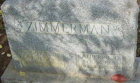 ZIMMERMAN, KATHERINE - Franklin County, Ohio | KATHERINE ZIMMERMAN - Ohio Gravestone Photos