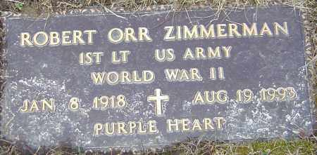 ZIMMERMAN, ROBERT ORR - Franklin County, Ohio | ROBERT ORR ZIMMERMAN - Ohio Gravestone Photos