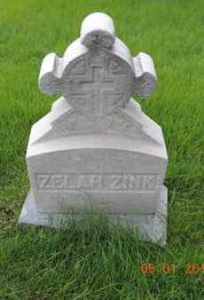 ZINK, ZELAH - Franklin County, Ohio | ZELAH ZINK - Ohio Gravestone Photos