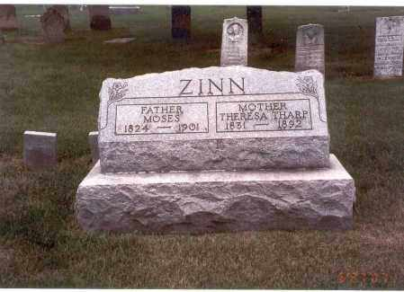 ZINN, MOSES - Franklin County, Ohio | MOSES ZINN - Ohio Gravestone Photos