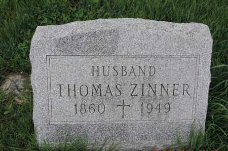ZINNER, THOMAS - Franklin County, Ohio | THOMAS ZINNER - Ohio Gravestone Photos